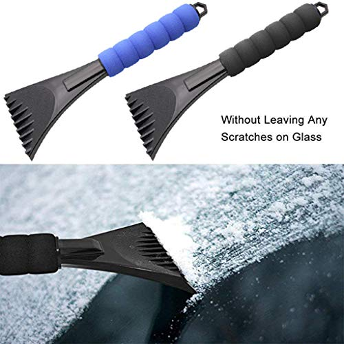 Onefa Scrape a Round, Premium Ice Scrape Heavy-Duty Frost and Snow Removal for Car Windshield and Window (Black,Blue)