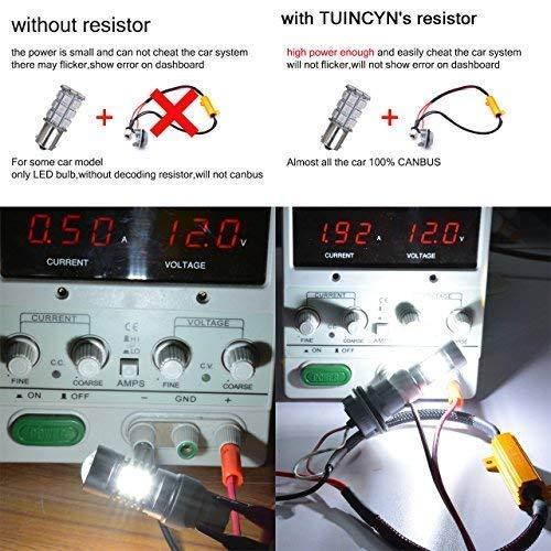 TUINCYN 2pcs 50W 8 ohm 7443 7444NA Led Load Resistor - Fix