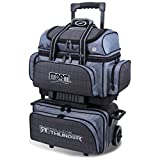 Storm 4 Ball Rolling Thunder Bowling Bag, Plaid/Gray/Black