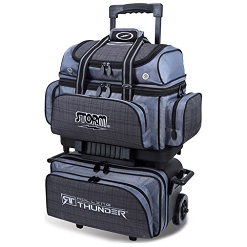 Storm 4 Ball Rolling Thunder Bowling Bag, Plaid/Gray/Black by Storm