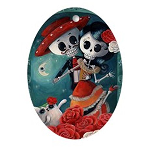 CafePress Dia De Los Muertos Mexican Lovers Ornament (Oval) Oval Holiday Christmas Ornament]()