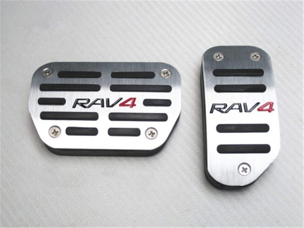 Car Pedal Pads Accelerator Brake and Clutch Pedal No Drill Car Pedal Accessories Fit for RAV4 at Color : Toyota Camry Highlander TRD