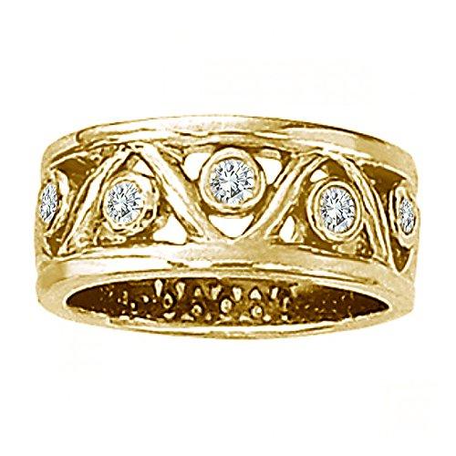 0.30 Carat G-H Diamond Fancy Tringle Design Promise Wedding Bridal Women Ring 14K Yellow (0.30 Ct Marquise Diamond)