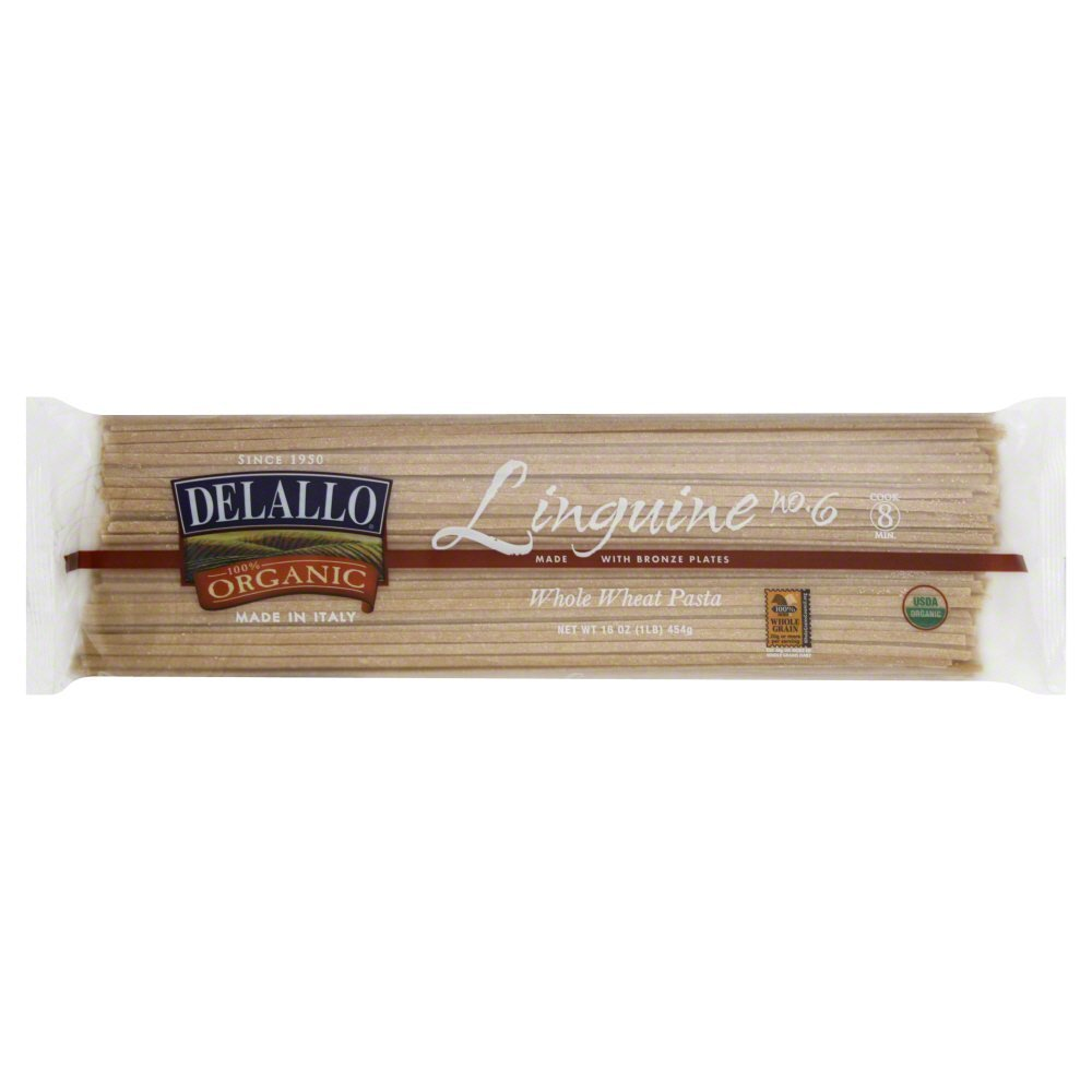 DeLallo Linguine, Whole Wheat, Organic 16.0 OZ(Pack of 6)