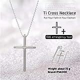 PSKOOK Emmergency Safety Hammer Car Escape Outdoor Original Survival Rescue Tool Tactical Cross Pendant Necklace (Silver)