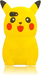 iPhone 8 Case,iPhone 7 Case,iPhone 6S Silicone Case,Emily Fashion Super Cute 3D Cartoon Character Pokemon Protective Silicone Back Case Cover for iPhone SE 2020/8/7/6S/6 4.7 inch