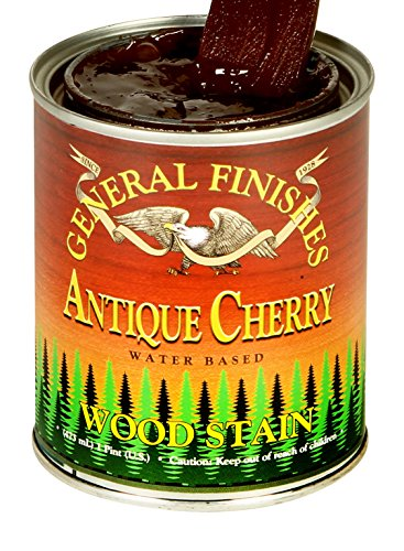Cherry Antique Wood (General Finishes Water Based Wood Stain, 1 Pint, Antique Cherry)