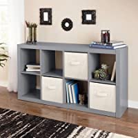 Horizontal or vertical 8 Cube Multiple Storage Organizer in Gray