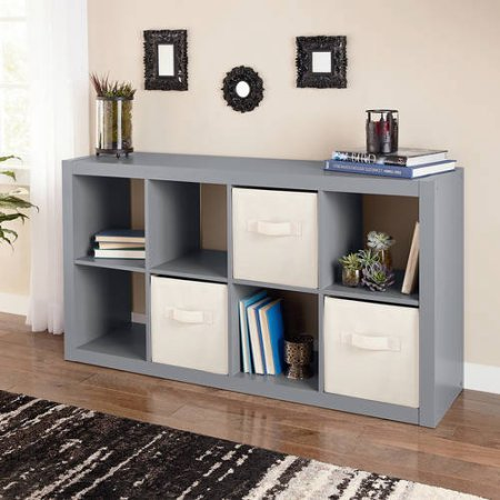 Better Homes and Gardens 8-Cube Organizer (Gray) by Better Homes and Gardens