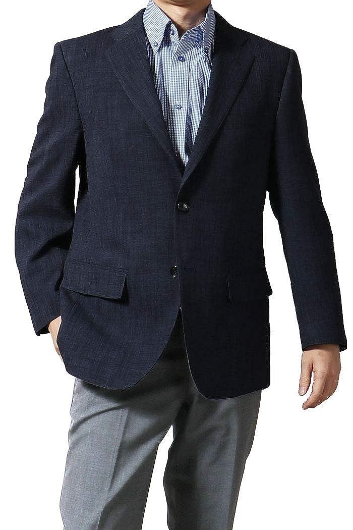 ジャケット メンズ 春夏 吸水速乾 清涼素材 ビジネス オフィス クールビズ ゴルフ 旅行 軽量 濃紺 ネイビー 219201 AB体6号(L) 【2】濃紺 B07PZYQKBB