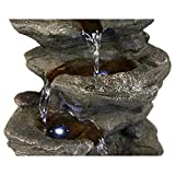 BBabe Staggered Rock Cascading Fountain