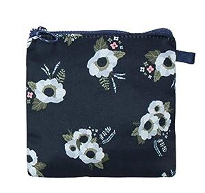 Chenshon Portable Sanitary Napkin Storage Bag Canvas Sanitary Pads Bag Coin Purse-Black