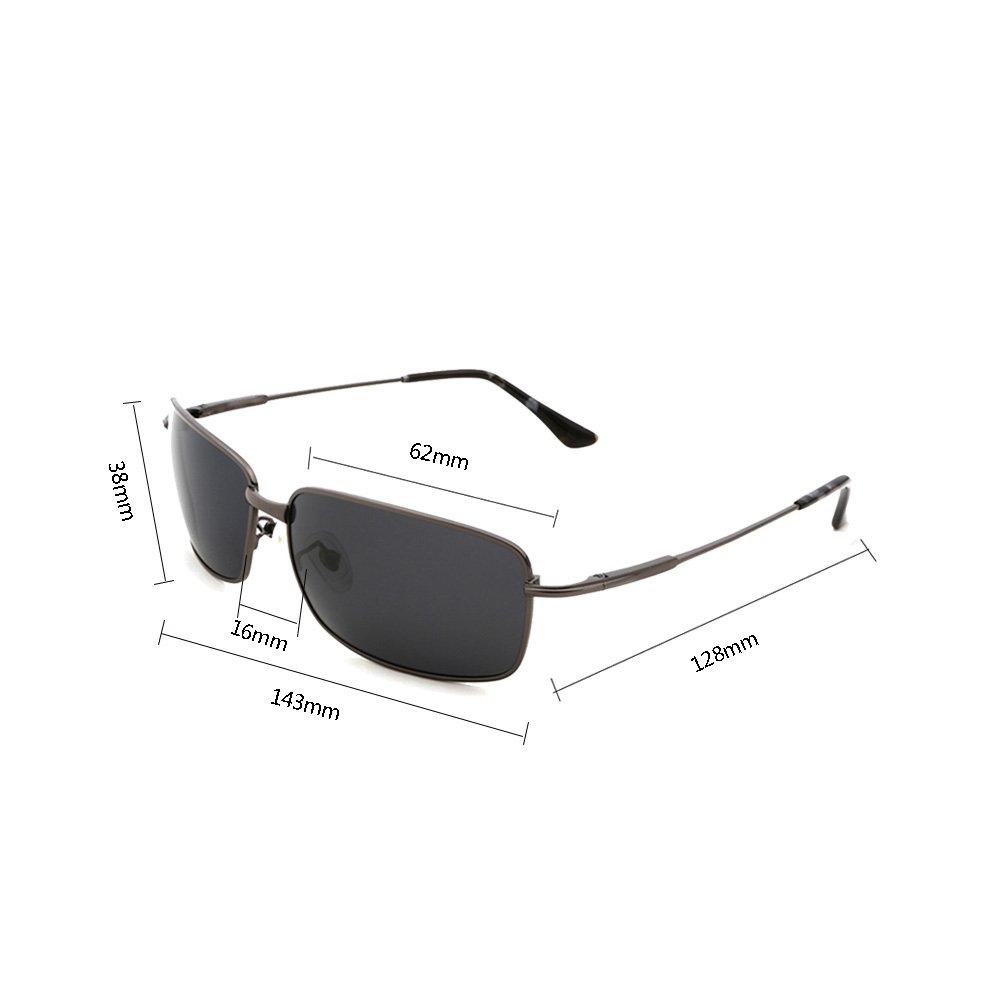 565c005aa5 TESITE Lunettes De Soleil PolariséEs pour Hommes Lunettes De Protection 100%  UV (Gris)