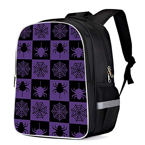 Cool 3D Halloween Theme,Spider Pattern Children School Book Bag Kids Printing Backpacks -