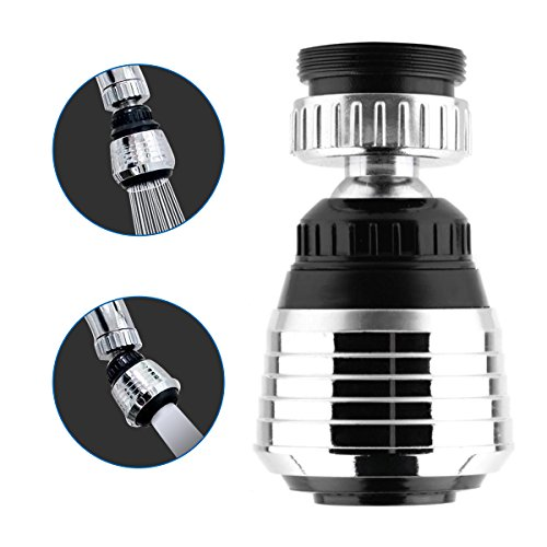 360-Degree Swivel Kitchen Sink faucet Aerator with 2 Function Swivel Sprayer for Kitchen, Bathroom Faucet