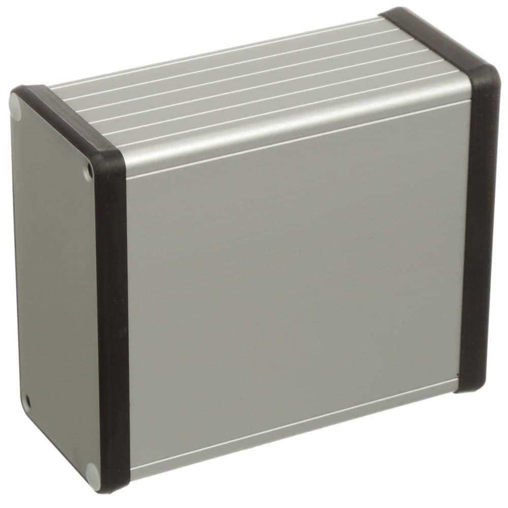 Enclosure; Cabinet; Desktop; Aluminum; Extruded; Natural; 4.72x4.06x2.09In; 1455 Series - Pack of 2