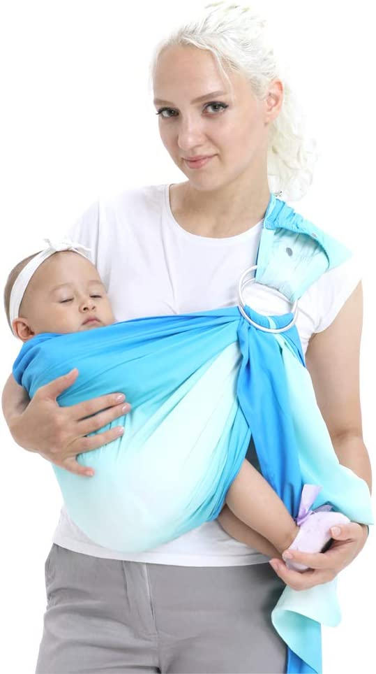 CUBY Breathable Carrier Adjustable Ring Water Sling for Newborn Baby Blue