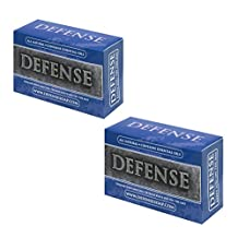 Defense Soap Antifungal 4 Ounce Bar (Pack of 2) - 100% Natural and Herbal Pharmaceutical Grade Antibacterial Tea Tree Oil and Eucalyptus Oil Helps Wash Away Ringworm, Jock Itch, Dry Skin, Dandruff, Acne, Psoriasis, Yeast, and Athlete's Foot