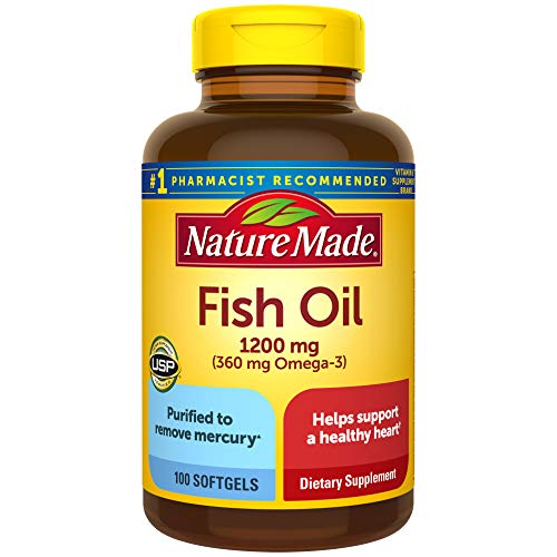 Nature Made, Fish Oil 1200 mg Softgels, 100 Count