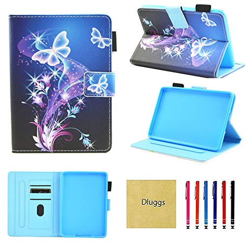 Kindle Paperwhite Case, Case for Kindle Paperwhite, Dluggs PU Leather Folio Smart Cover with Auto Sleep/Wake for Paperwhite 1 2 3 4 (Fit All 2012 2013 2015 2016 2018 Version), Butterfly Tree (Paperwhite 1)