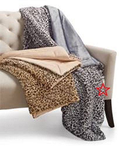 Charter Club Cozy Faux-Fur Snow Leopard-Print Throw, 50 in x 60 in