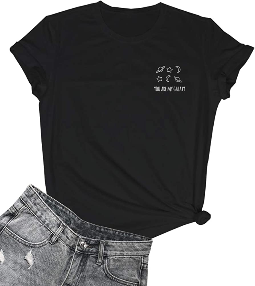 YITAN Women Graphic T Shirts Cute Clothes for Girls Summer Tees