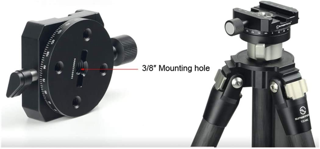 Sunwayfoto Tripod Head Panoramic Quick Release clamp Panoramic Shooting Clamps for 1DX D4S