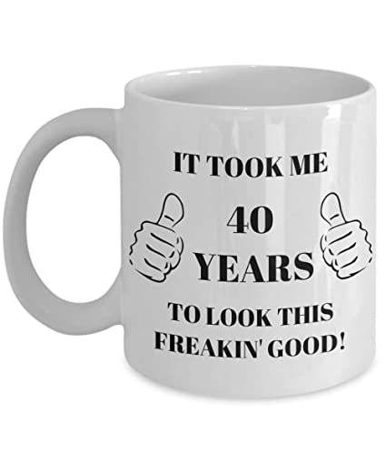 40th Birthday Gift For Women Men 40 Years Coffee Mug Novelty 1978 Unique Ideas Funny Gag