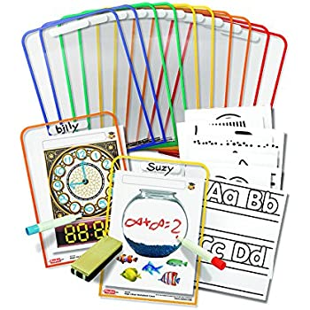 Amazon.com : Write And Wipe Pockets : Dry Erase Worksheet : Office ...
