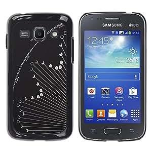 Be Good Phone Accessory // Dura Cáscara cubierta Protectora Caso Carcasa Funda de Protección para Samsung Galaxy Ace 3 GT-S7270 GT-S7275 GT-S7272 // Phase Hososcope Grey Astronomy