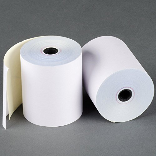 3 x 90' 2-Ply White/Canary Carbonless Kitchen Paper 50 Rolls Made in USA From BuyRegisterRolls by BuyRegisterRolls