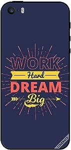 حافظة لهاتف ايفون 5s Work Hard Dream Big Arrow
