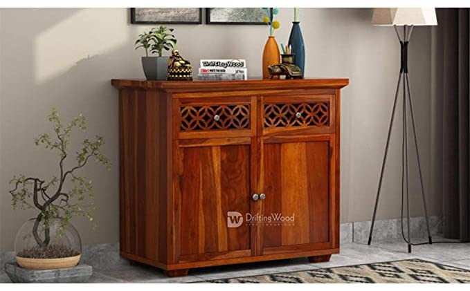 DriftingWood Solid Sheesham Wood Sideboard Cabinet Console Table with Drawers