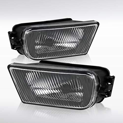 Autozensation For BMW E39 5-Series 540i 97-01 Z3 Black Clear Driving Bumper Fog Lights Lamps