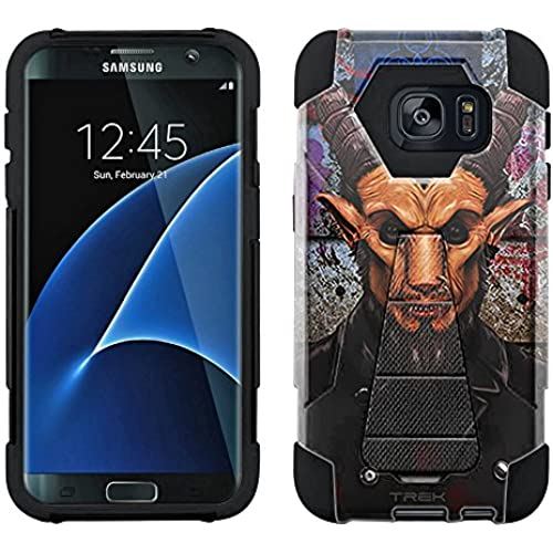Samsung Galaxy S7 Edge Hybrid Case Goat Cannibal 2 Piece Style Silicone Case Cover with Stand for Samsung Galaxy S7 Edge Sales