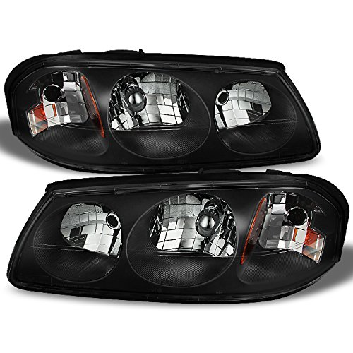 For Chevy Impala Black OE Replacement Headlights Front Headlamps Driver/Passenger Left + Right Pair New