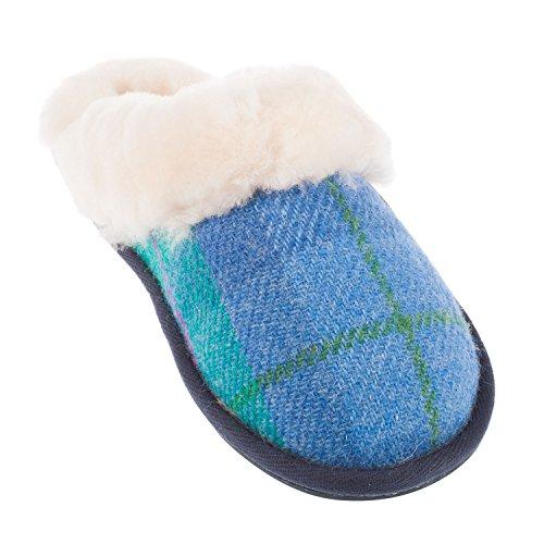 Bedroom Athletics - Zapatillas de estar por casa para mujer blank DENIM/GREEN CHECK