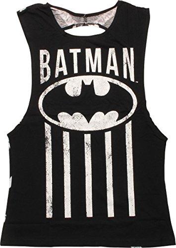 Batman+tank+top Products : Batman Stripe Cutout Back Juniors Tank Top