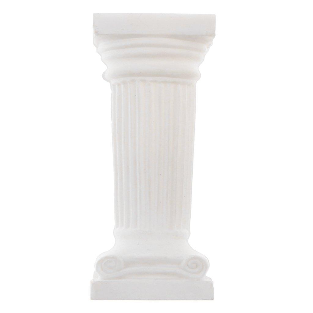 #01 Rond MagiDeal 12pcs//Lot Miniature Colonne Pl/âtre Antique Sculpture Alb/âtre pour DIY Cr/èche de No/ël Bricolage Jardin de F/ée
