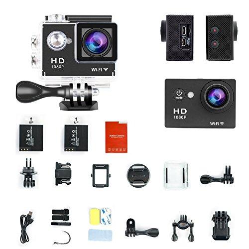 W9 12MP Sports Wi-Fi Action Camera (Black) - 1