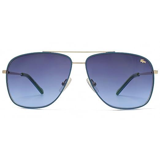 bd8fccbb30 Lacoste Square Aviator Sunglasses in Light Gold Blue  Amazon.co.uk  Clothing