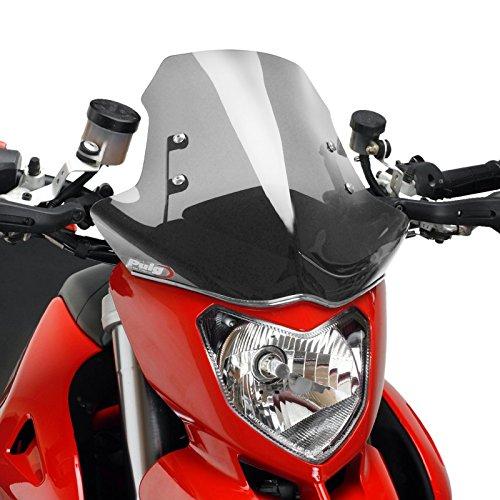 Puig 5196H Windshield for Ducati Hypermotard 796 2010-2012/ Hypermotard 1100/1100S 2007-2012, Smoke, Medium