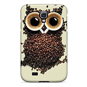Excellent Cell-phone Hard Covers For Samsung Galaxy S4 With Custom Attractive Coffee Owl Skin TrevorBahri