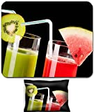 organ juice - Liili Mouse Wrist Rest and Small Mousepad Set, 2pc Wrist Support IMAGE ID: 39321772 Two glasses of organic juice