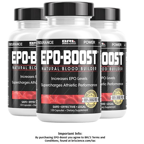 EPO-BOOST Natural Blood Builder Sports Supplement. RBC Booster with Echinacea & Dandelion Root for increased VO2 Max, Energy, Endurance (360 Capsules)