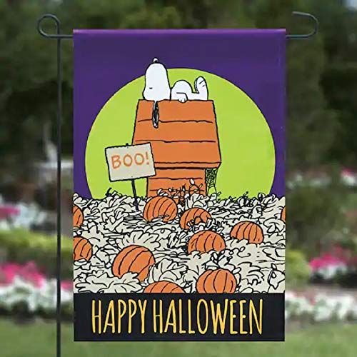 Jetmax Peanut Great Pumpkin Happy Halloween Flag Garden Flag,12