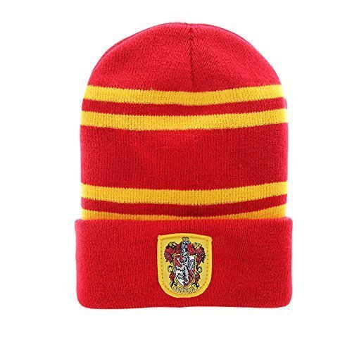 2fafffb3164 Galleon - Cinereplicas Harry Potter Beanie Hat Knit Cap - Official - By  Classic Red Gryffindor (Adult)