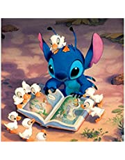 Diamond Painting Kits for Adults Beginner Disney Art,5D Painting Kit Home Decor Craft,Rhinestone Embroidery Cross Stitch Kits Supply Arts Craft Canvas Wall Decor Stickers Home Decor 12x12 inches
