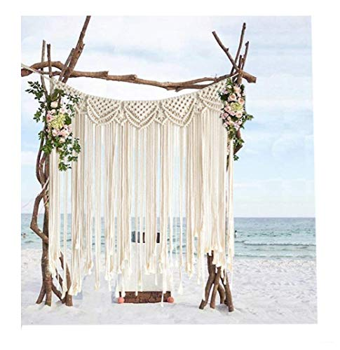 Macrame Backdrops For Wedding Large Curtain Home Décor Handwoven,42'Wx35'L