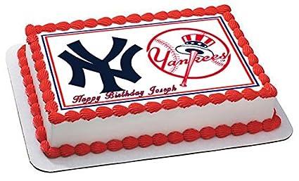New York Yankees 2 Edible Cake Topper 7 5 X 10 1